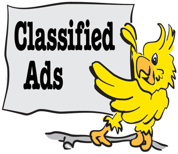 Classified advertising is free on Parrots website